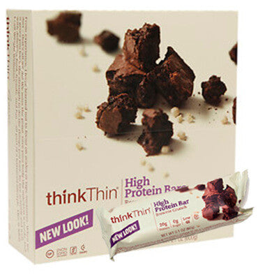 THINK THIN, Barra de Proteína sabor Brownie Crunch, 10 barras.