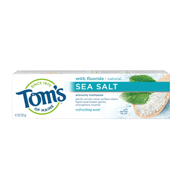 TOM'S OF MAINE, Sea Salt Anticavity Refreshing Mint, 4.7 oz