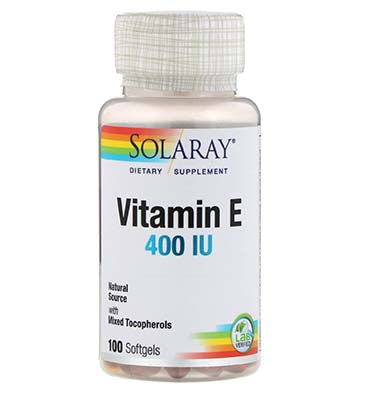 SOLARAY, Vitamina E 400 IU, 100 Softgels