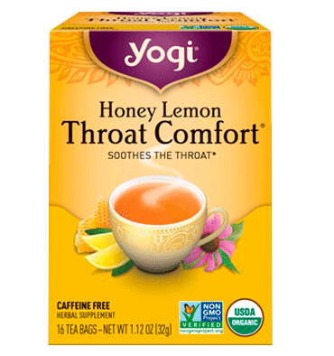 YOGI, Honey Lemon Throat Comfort  Caffeine Free, 16 Tea Bags