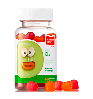ZAHLER CHAPTER ONE, D3 Gummies para niños – 60 Gummies