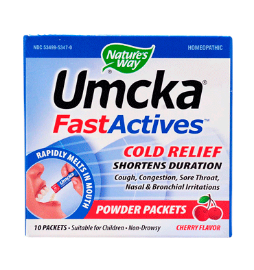NATURE´S WAY, Umcka ColdCare FastActives Cherry, 10 Pack