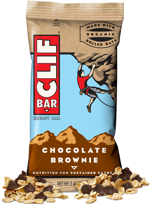 CLIF BAR, Barra sabor Chocolate Brownie, 12 barras.