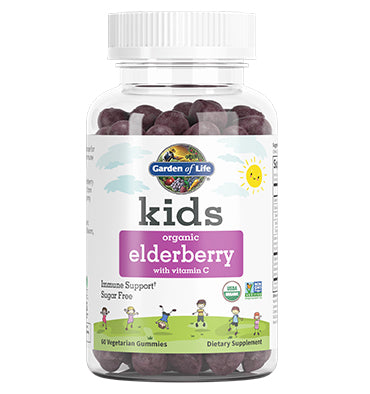 GARDEN OF LIFE, Kids Gomitas de Elderberry y Vitamina C Soporte Inmune, 60 gomitas