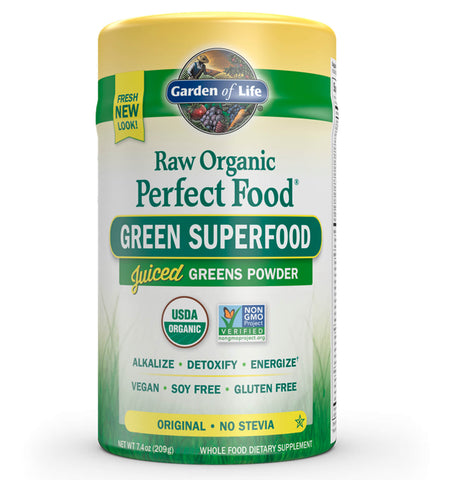 GARDEN OF LIFE, Perfect Food Orgánico, Sabor Natural, 207 gr.