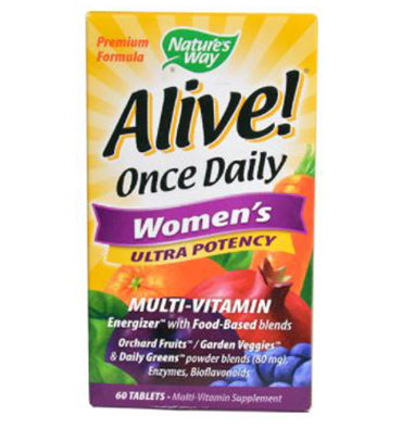 NATURE´S WAY, Alive! Once Daily Women's Ultra Potency Multivitamin, 60 Tabs