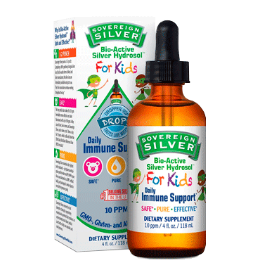 NATURAL IMMUNOGENICS SOVEREIGN, Silver Bio Active Silver Hydrosol for Kids Immune Support - 10 ppm 118ml.)
