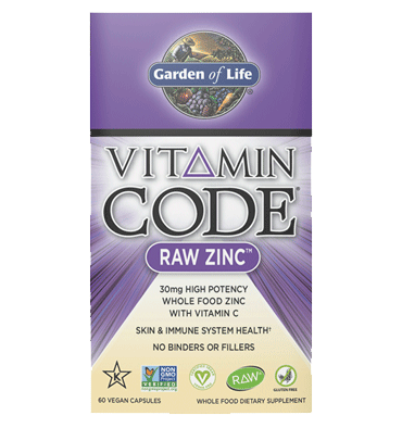 GARDEN OF LIFE, VITAMIN CODE, RAW Zinc, 60 vcaps.