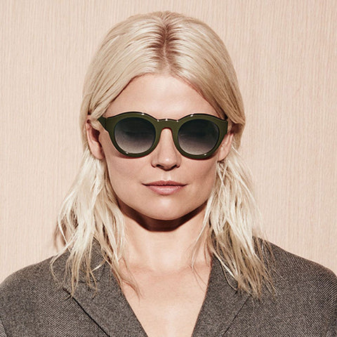 cabc16035a306 Kate Young For Tura - Flora Brown Sunglasses – Vert   Vogue