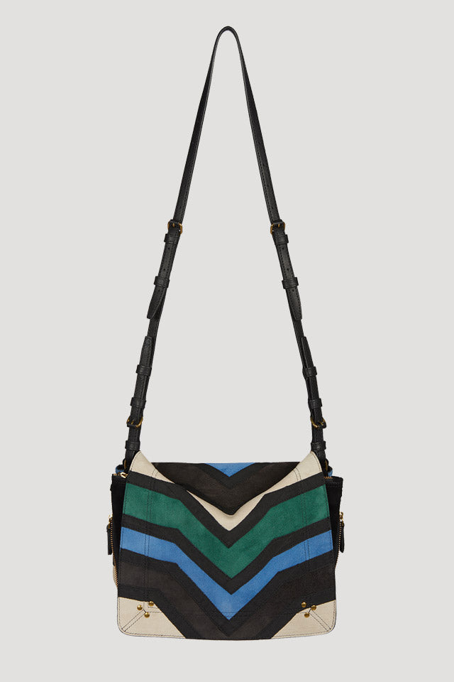 Igor Patchwork Bag in Blue/Green