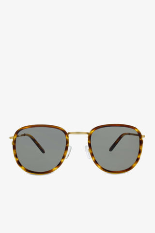 Golden brown sunglasses in caramel tortoise