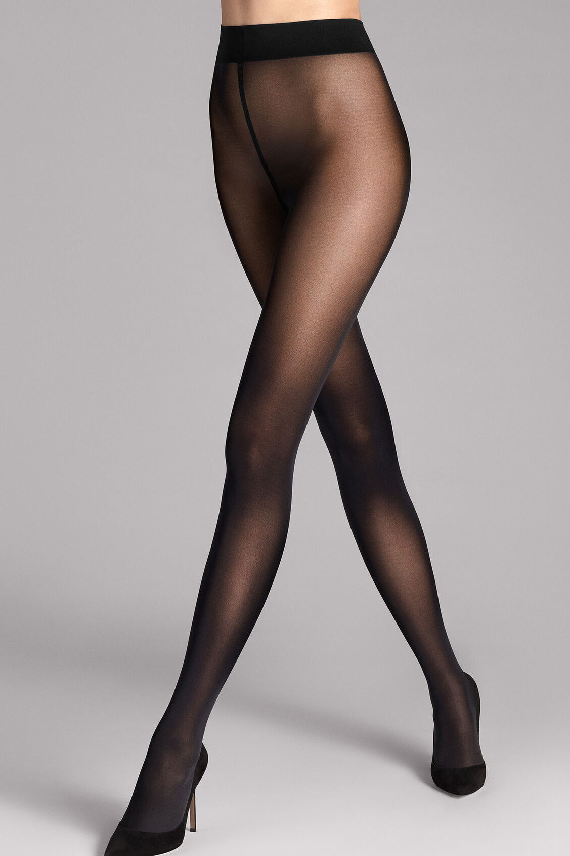 Wolford Pure 50 Opaque Tights in Black - Vert & Vogue