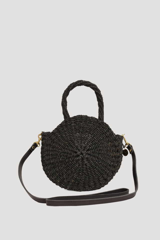 Small Alice Woven Tote In Black