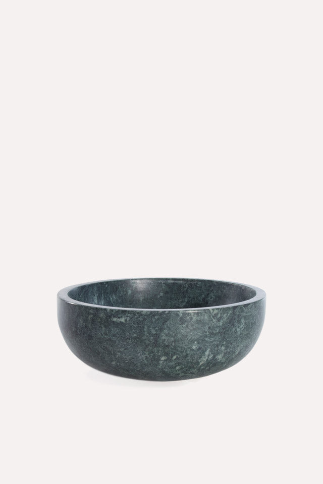 Mara Marble Bowl Large in Green