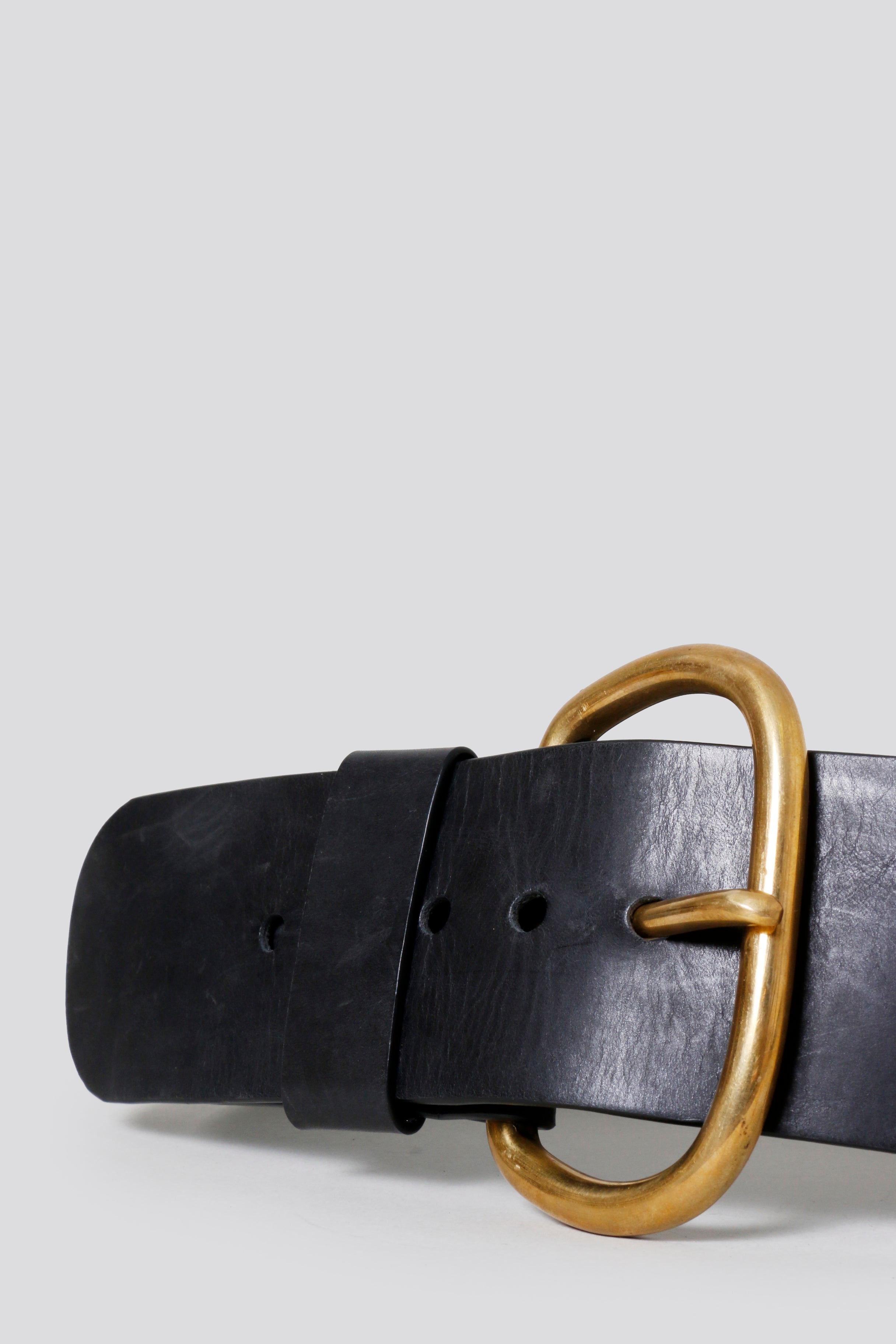 Wide Estate Belt in Black