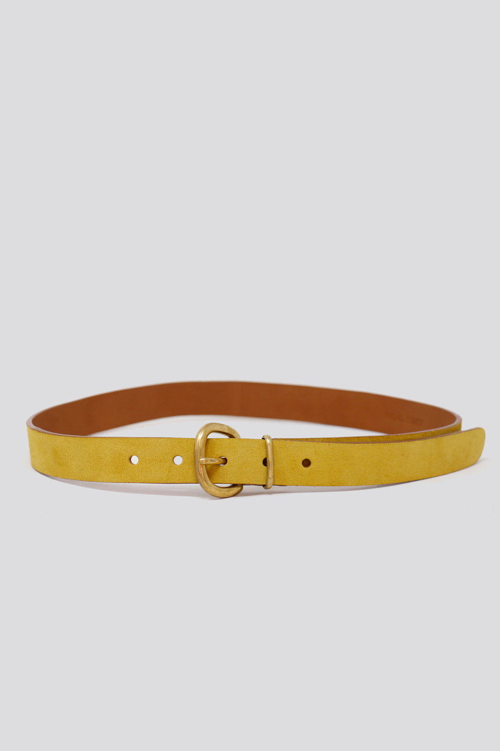 Thin Estate Belt in Yellow