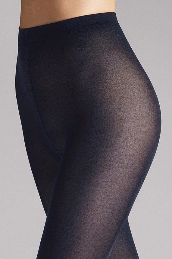 Wolford Satin Opaque 50 Tights in Admiral - Vert & Vogue