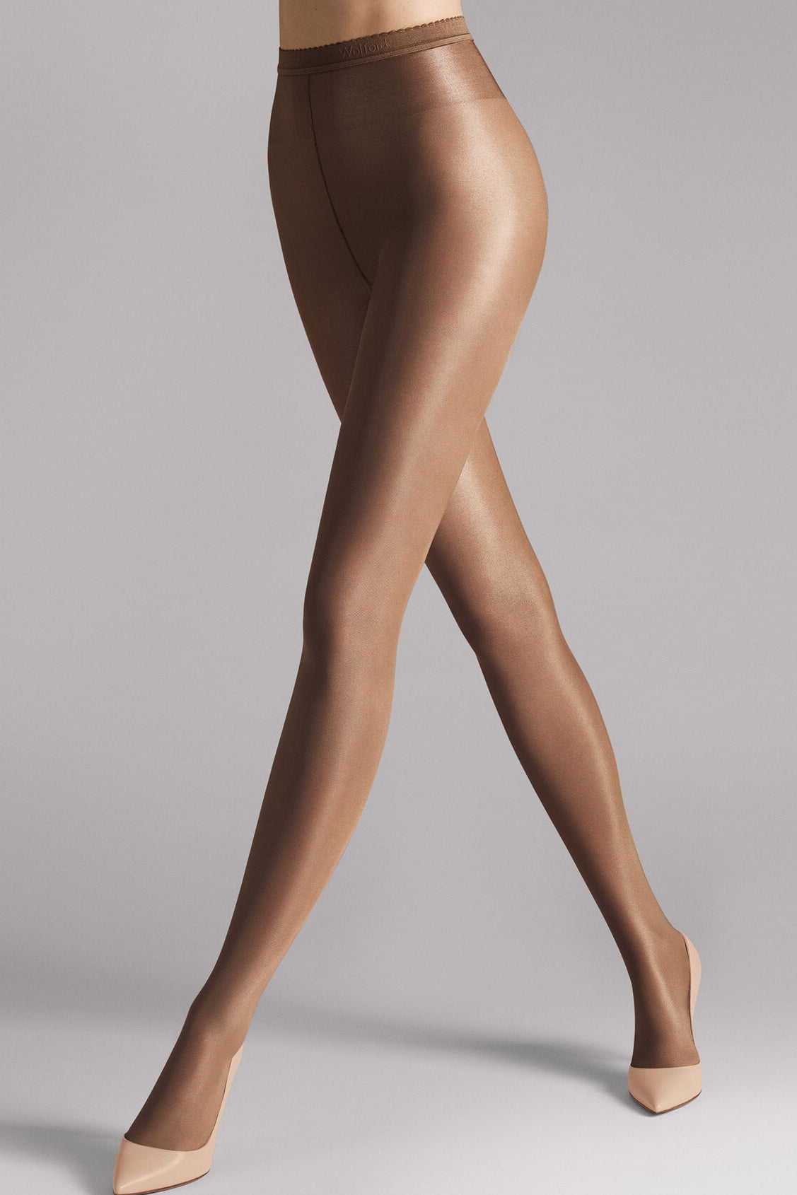 Wolford Neon 40 Tights in Cocoa - Vert & Vogue