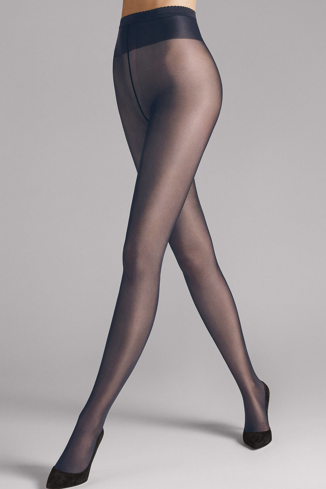 Wolford Neon 40 Tights in Caviar - Vert & Vogue