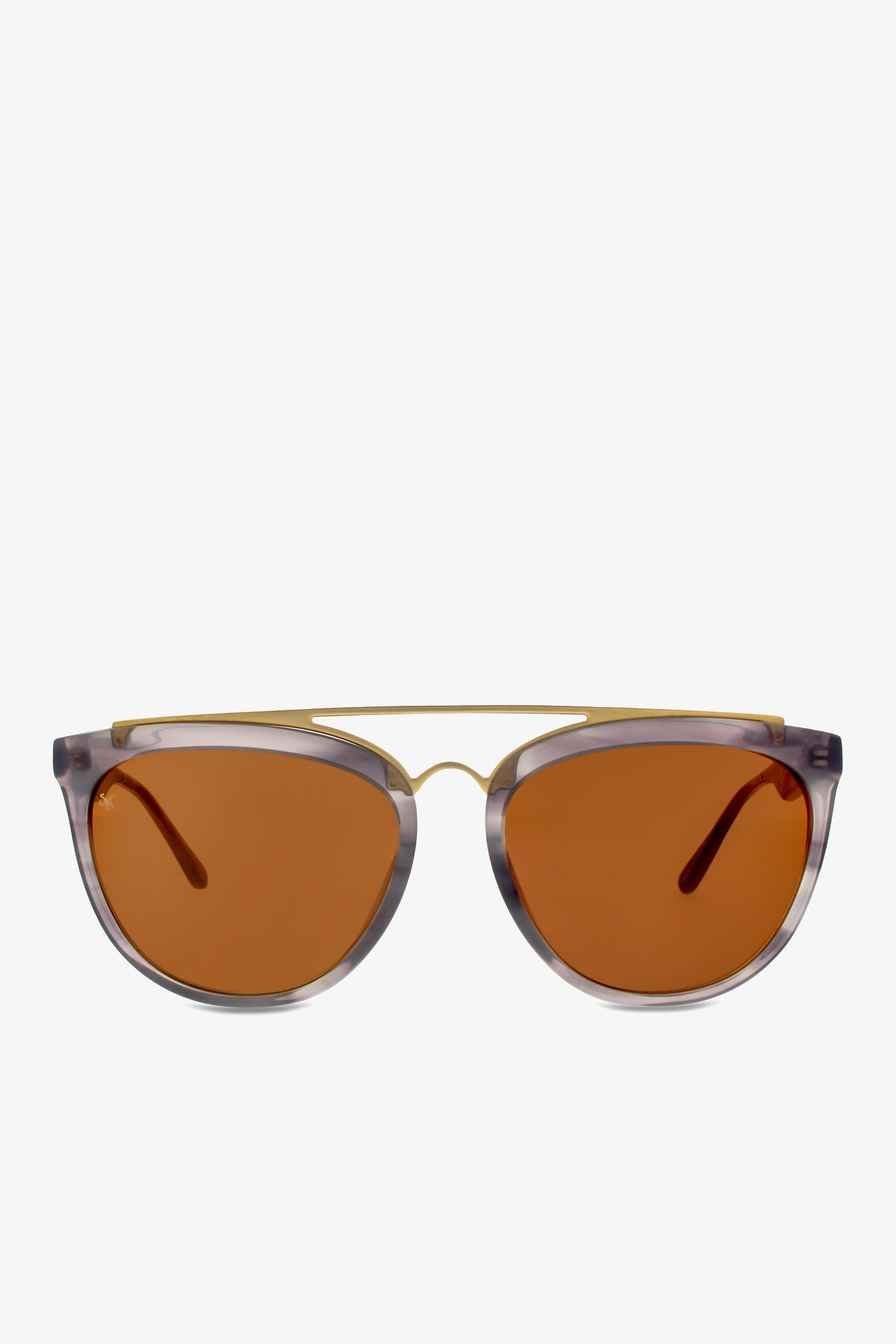 Volunteers sunglasses in grey bucolic with matte gold