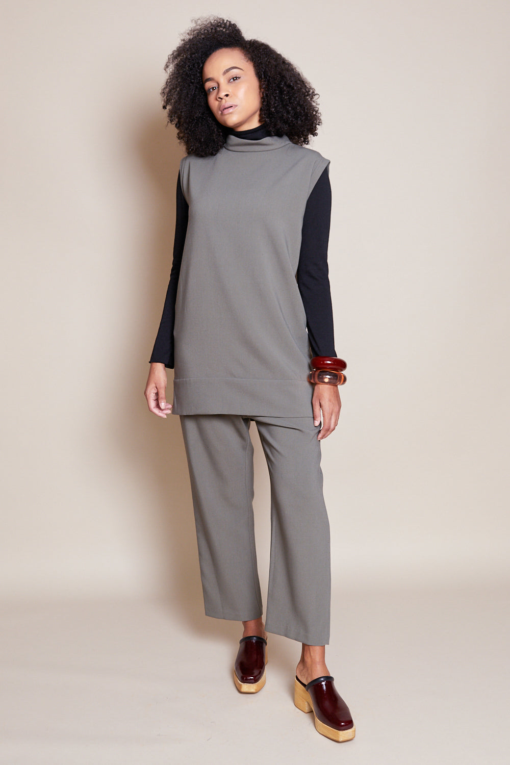 Rachel Comey Ellis Dress in Army - Vert & Vogue