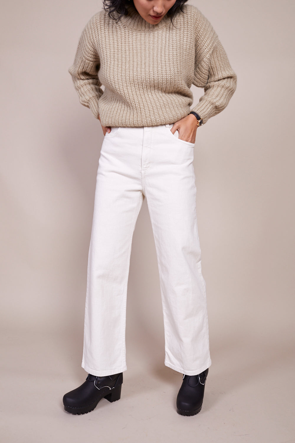 Pennon Pant in Dirty White