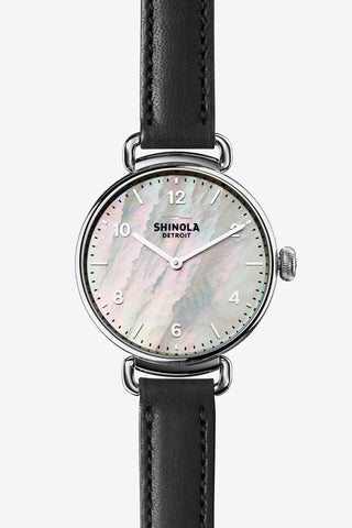 The Canfield 32mm Watch in Mother of Pearl/Black - Vert & Vogue - 1