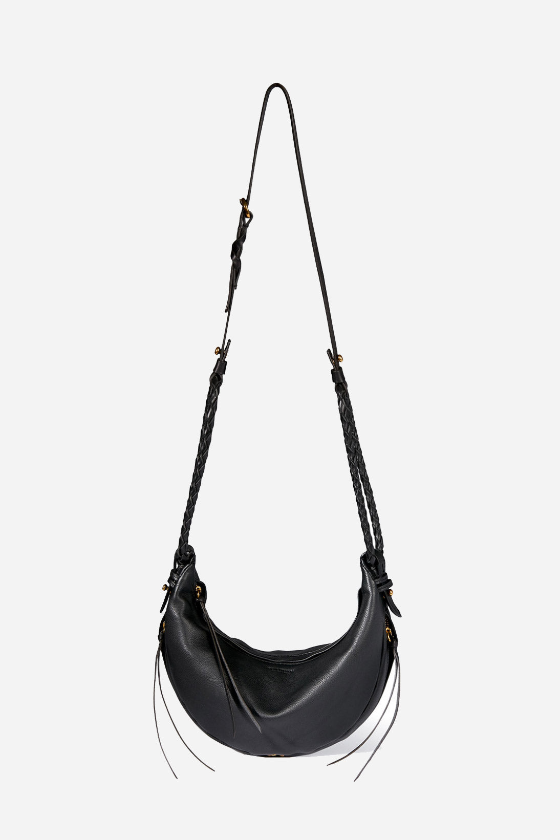 Willy Small Crossbody Bag in Noir Silver