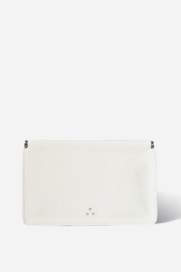 Clic Clac Large Clutch in Blanc