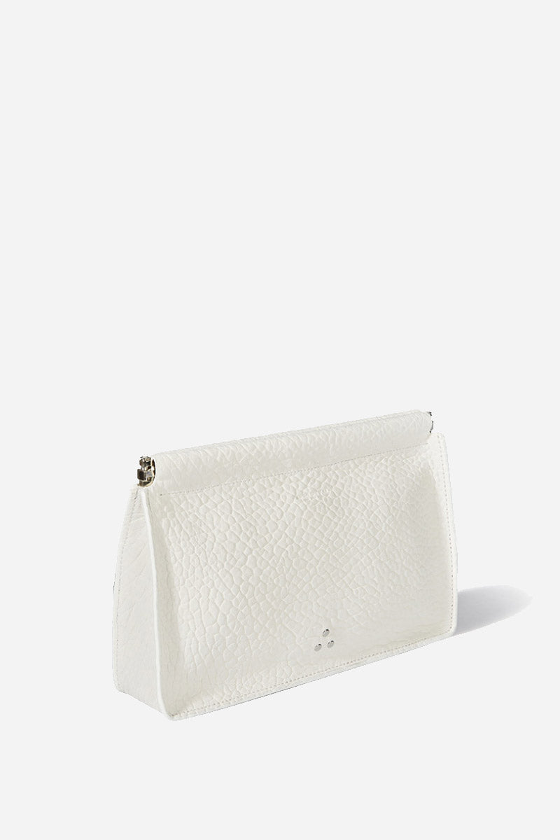 37dacf6fa3764 Jerome Dreyfuss - Clic Clac Large Clutch in Blanc – Vert   Vogue