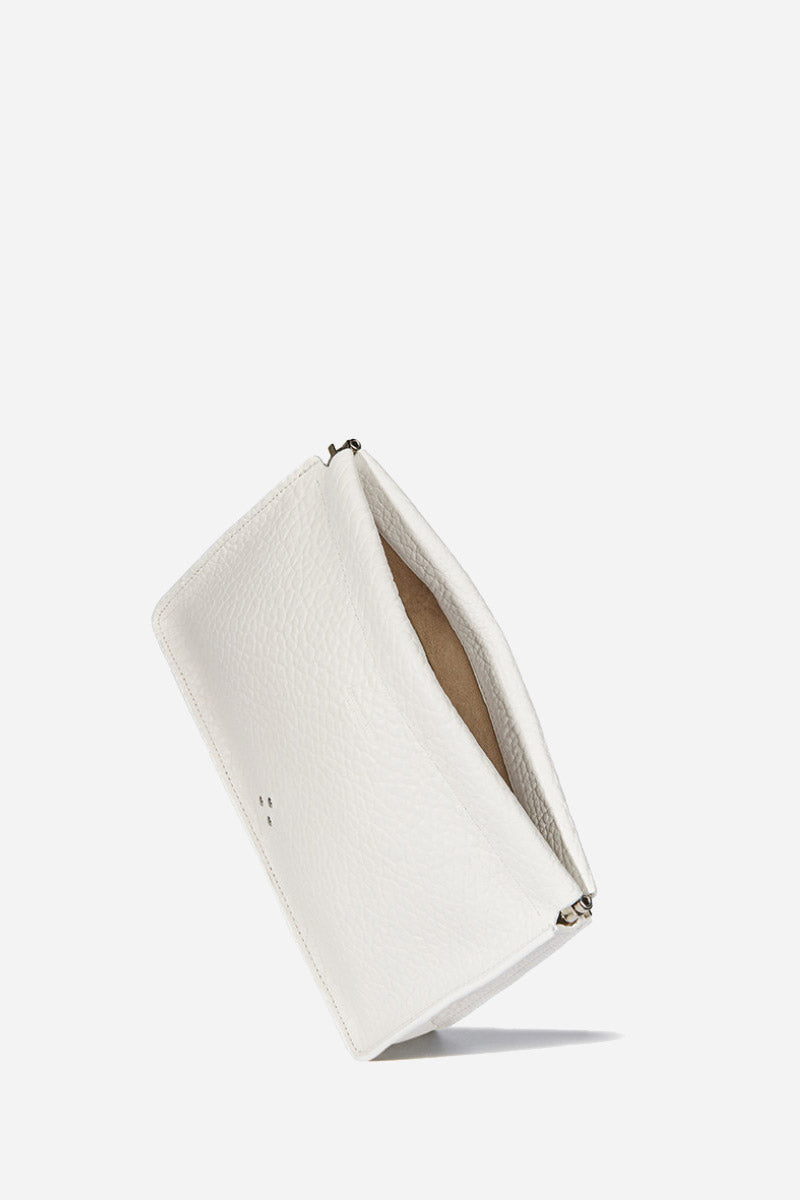Jerome Dreyfuss Clic Clac Large Clutch in Blanc - Vert & Vogue