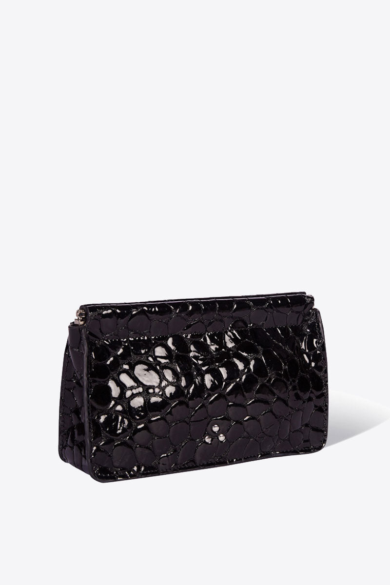 Clic Clac Large Clutch in Noir