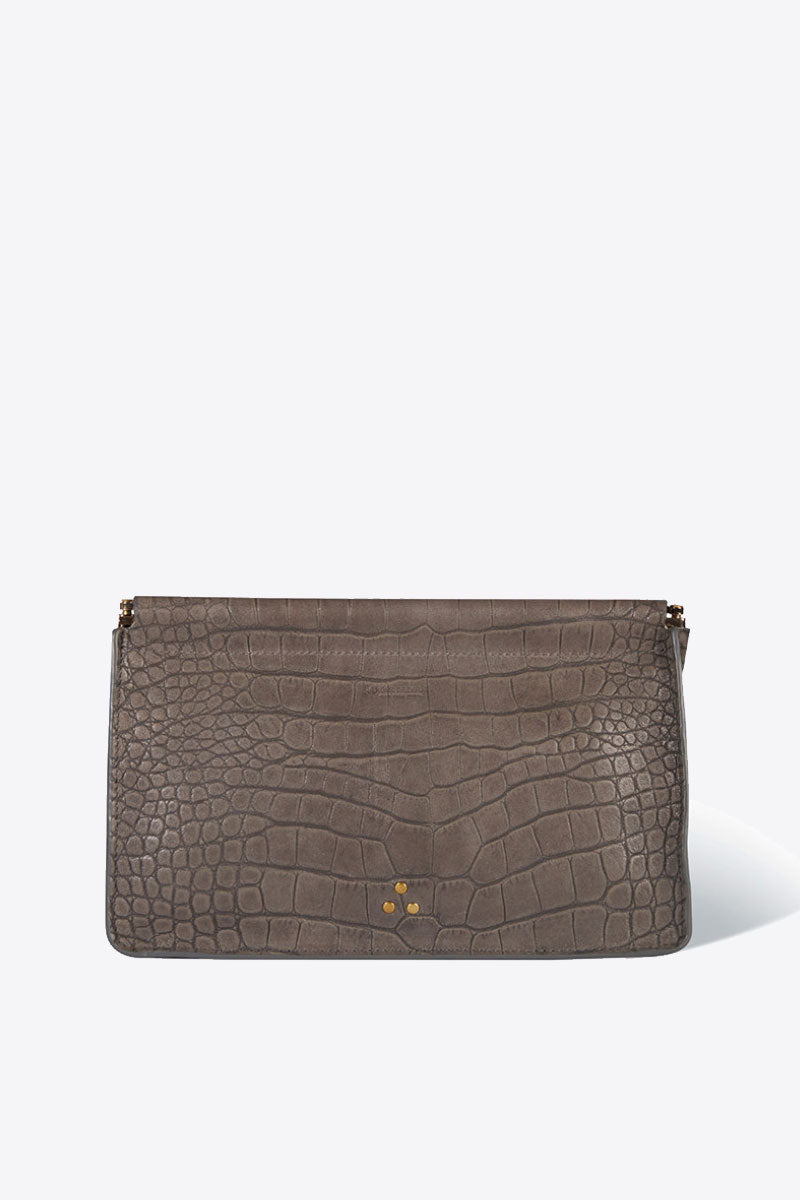 Clic Clac Large Clutch in Gris