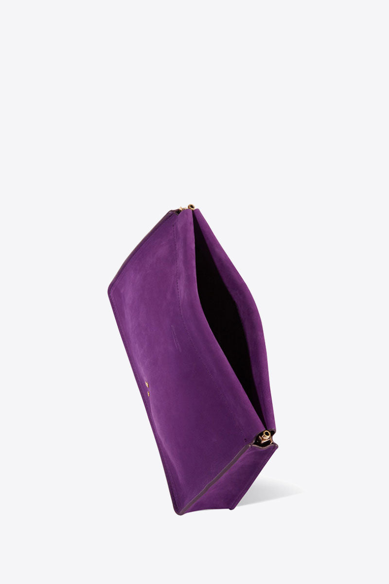 Clic Clac Large Clutch in Violet