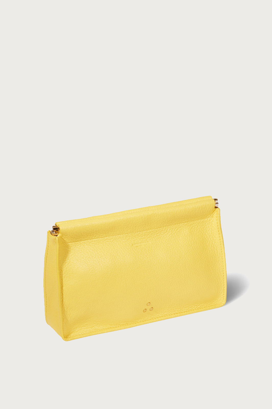Jerome Dreyfuss Clic Clac Clutch in Mimosa - Vert & Vogue