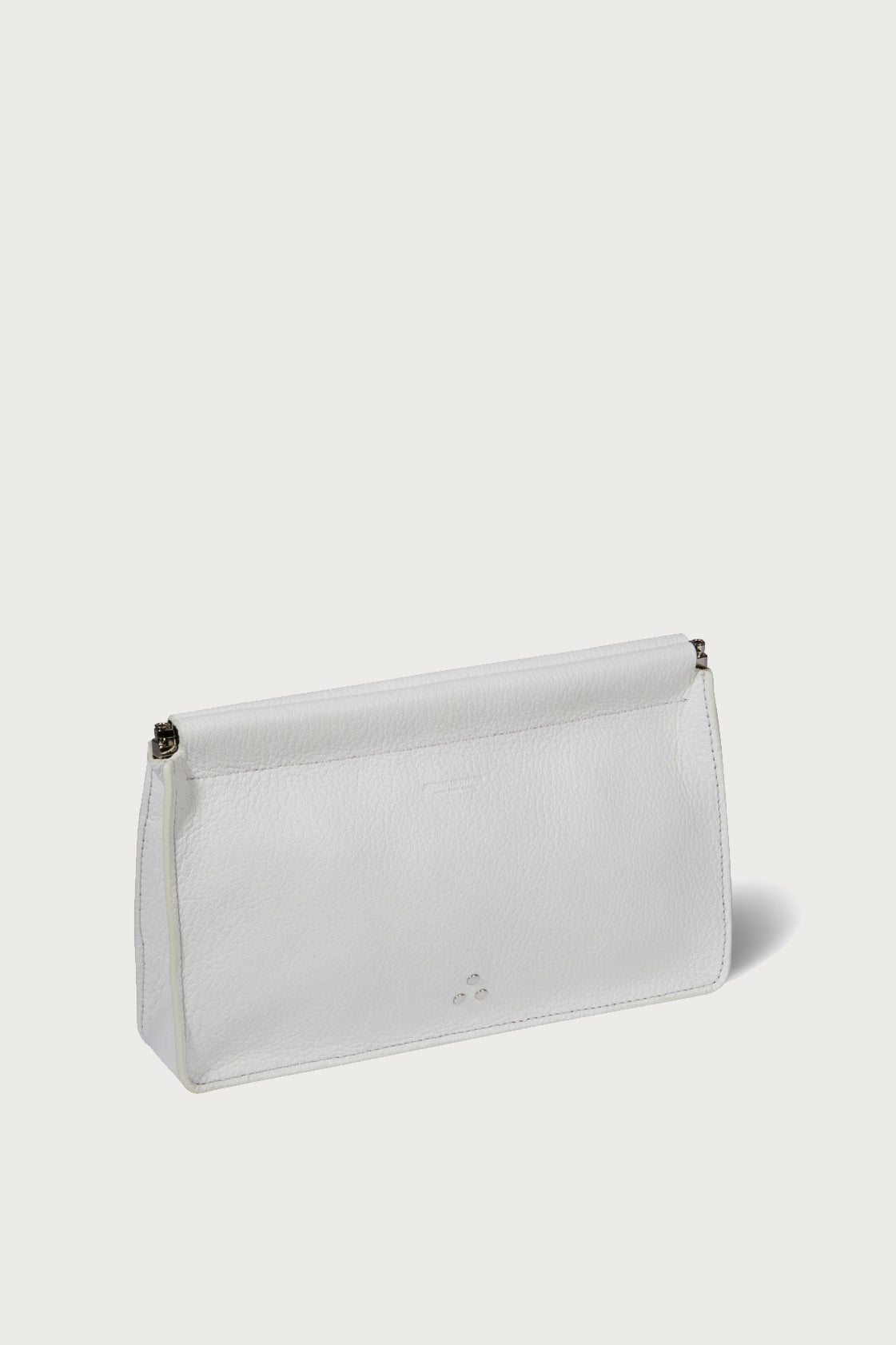 Jerome Dreyfuss Clic Clac Clutch in Blanc - Vert & Vogue