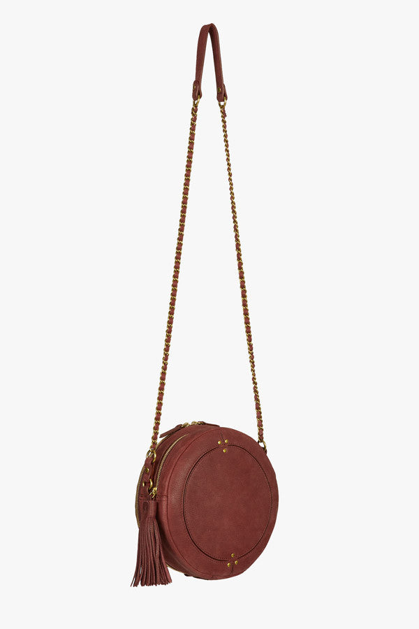 Remi crossbody in bordeaux