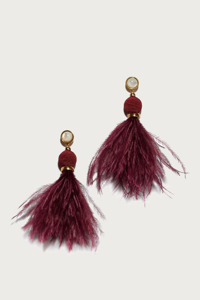 Parker Earrings in Burgudy