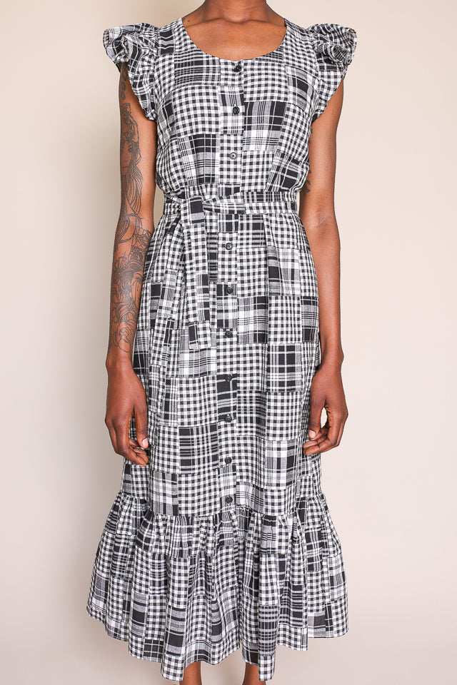 Aidan Dress in Black/White