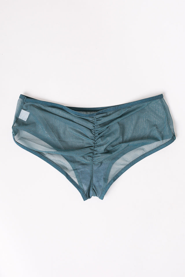 Whisper Ruched Hipster in Jade