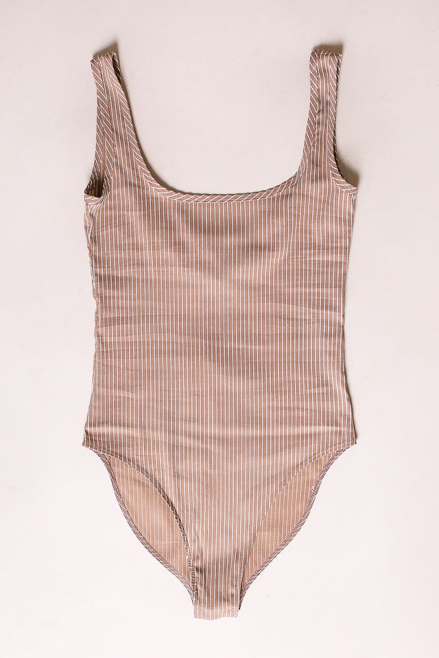 No.6 Scoop Fiona Bodysuit in Coffee - Vert & Vogue