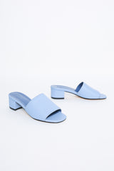 Maryam Nassir Zadeh Sophie open toe mule in slate blue - Vert & Vogue