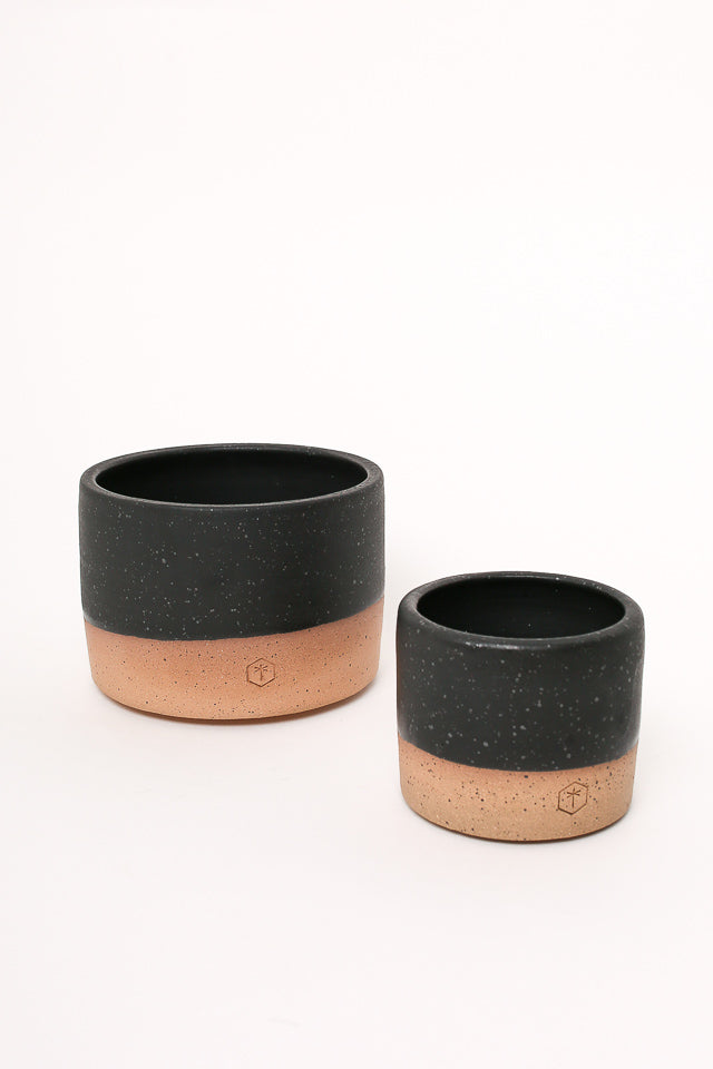 Matte Large Planter Black