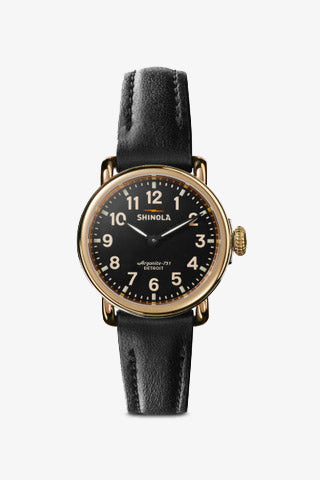 Runwell 28mm Watch in Black/Black