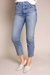 Amo Denim Lover Boy Relaxed Jean in Darling - Vert & Vogue
