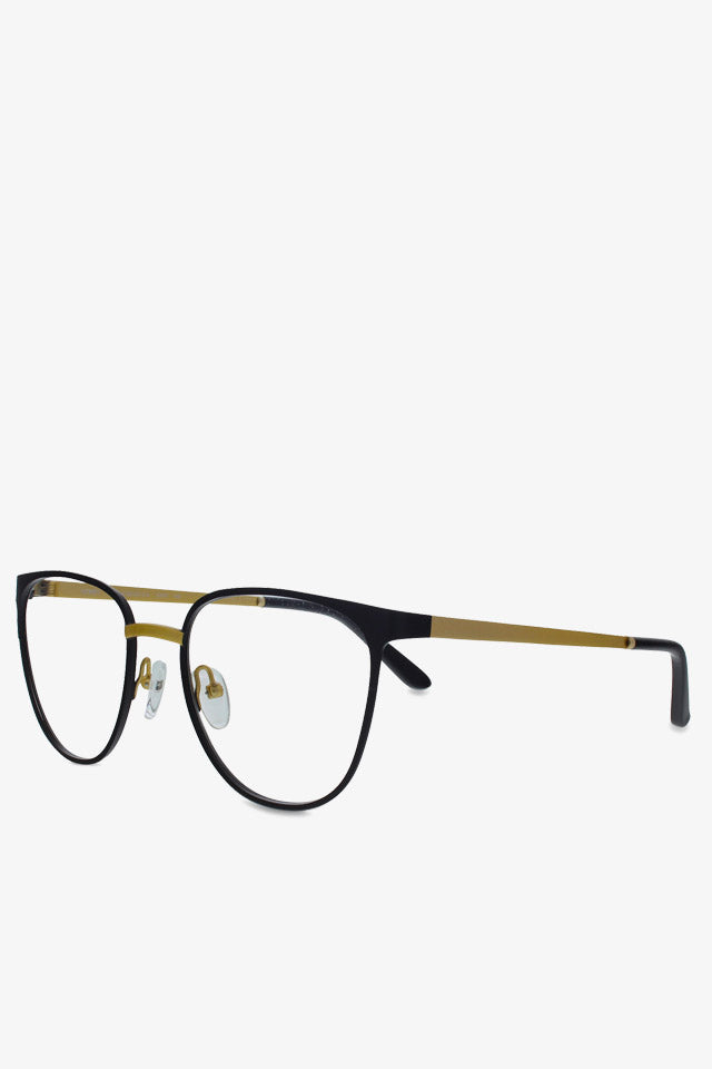 Money Optical Glasses in Matte Black and Matte Gold
