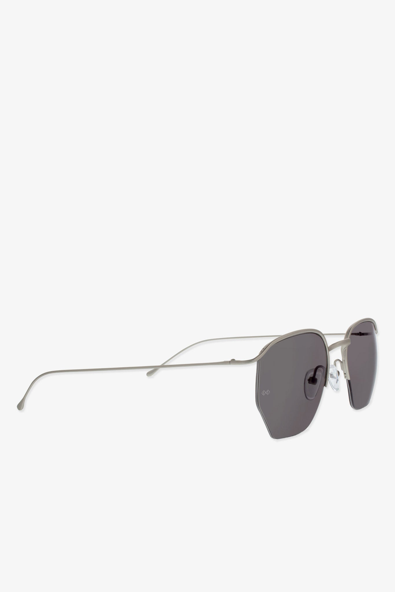 Smoke x Mirrors Geo I sunglasses in matte silver - Vert & Vogue
