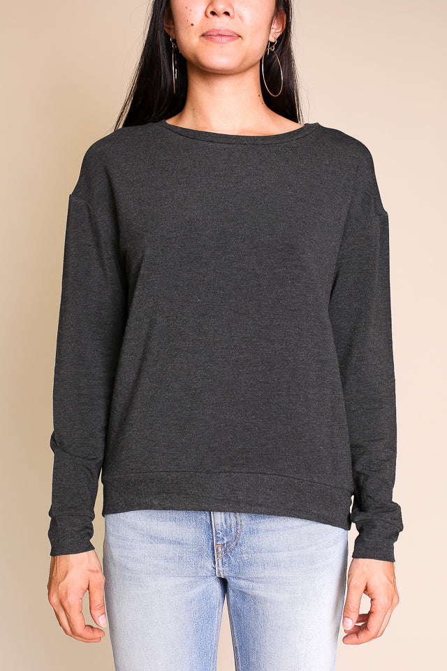 Laurie Boxy Pullover in Anthracite Chine