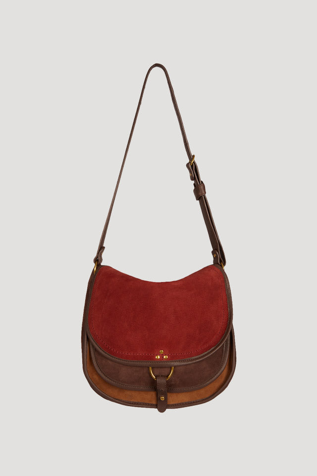 Jerome Dreyfuss Felix Grand Crossbody in Caviar Marron - Vert & Vogue