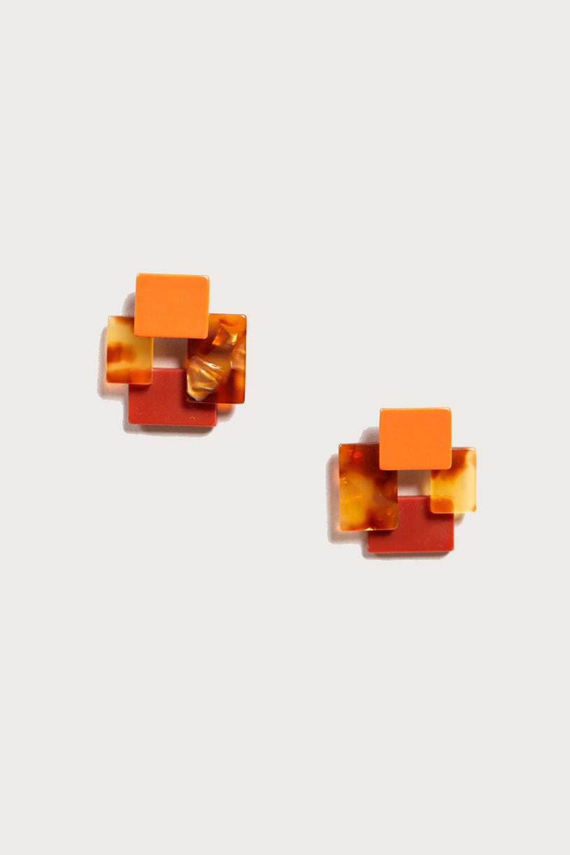 Accord earring in Naranja